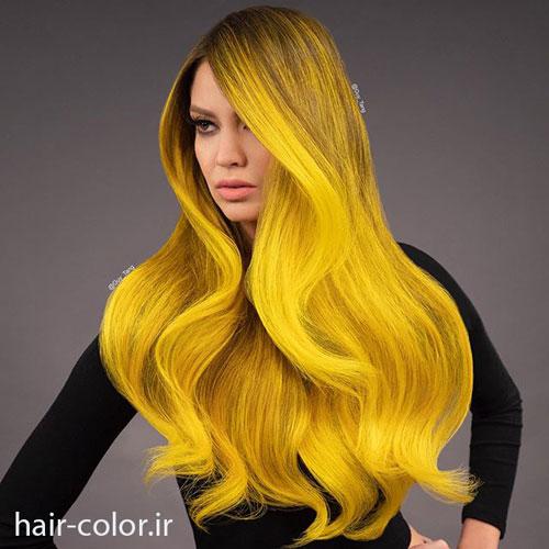 رنگ مو نئونی ، رنگ مو سرد ، آرایشگاه تخصصی رنگ و مش مو